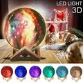 3D LED Moon Lamp, 16 Colors LED 3D Print Moon Light with Stand & Remote&Touch Control and USB Rechargeable, Moon Light Lamps for Kids Friends Lover Birthday Gifts