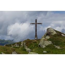 Mountain Summit Time Out Cross Summit Cross-12 Inch BY 18 Inch Laminated Poster With Bright Colors And Vivid Imagery-Fits Perfectly In Many Attractive Frames