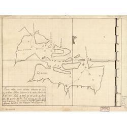 LAMINATED POSTER 20x30 Plano de las Bocas del Toro situadas en la costa de Tierra Firme, la de mas al O. en la latitud de 9'�'°37'¹ y en longd. de 293'�'°42'¹ del mro. de Thenerife