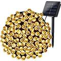 Solar Christmas Lights, 72ft 200 LED 8 Modes Solar String Lights, Waterproof Solar Fairy Lights for Garden, Patio, Home, Wedding, Party, Christmas Decorations (Warm White)
