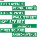 50094 4-Pack NYC Street Sign Cutouts, 4-Inch by 24-Inch