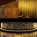 LED Icicle Lights, 13ft 96 LED Fairy String Lights Plug in Extendable Curtain Christmas String Lights 8 Modes Decorative Rope String Xmas Wave Twinkle Light (4M 96LED, Warm White)