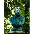Bust Cemetery Munich Southern Cemetery Face Copper-20 Inch By 30 Inch Laminated Poster With Bright Colors And Vivid Imagery-Fits Perfectly In Many Attractive Frames