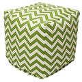 Majestic Home Goods Chevron Indoor/Outdoor Ottoman Pouf Cube
