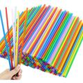 Tomnk 300pcs 10.3 Inches Disposable Color Drinking Straws Plastic Straws