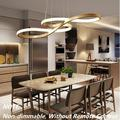 Modern LED Pendant Lighting, Chandeliers Dimmable 3000K~6500K Dining Room Ceiling Light with Remote Control Adjustable Height Ceiling Hanging Lighting Fixture (Gold - Finish )