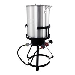 Nesco 30 Qt Aluminum Turkey Fryer w/ Spigot