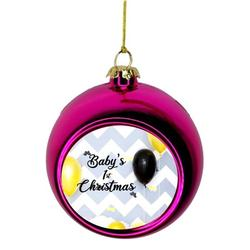Babys First Christmas Xmas Ornament New Baby First Year Ornament - Baby 1st Xmas Ornament - Baby 1st Christmas Ornament Christmas Décor Pink Ball Ornaments