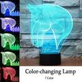 3D Table Light,EECOO Creative Horse Pattern LED Desk Lamp 7 Color Changing Touch Switch Table Night Light Home Decor,3D Horse Night Light