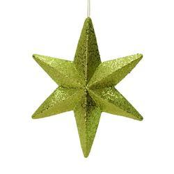 """20"""" Lime Glitter Bethlehem Star Outdoor"""