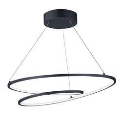 E21325-BK-ET2 Lighting-Cycle - 77W 1 LED Pendant in Modern style - 24.5 Inches wide by 2 inches high