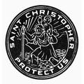 Saint Christopher Medal. /Nmedal Of Saint Christopher, The Patron Saint Of Safe Travel. Line Engraving. Poster Print by Granger Collection