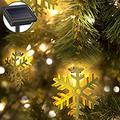 Holiday Decorative String Lights by eon 20 LED Solar Powered Hollow Metal Snow-Flake Fairy Lights for the Holidays and Christmas Decorations Great for House Parties - Indoor and Outdoor Decorations