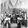 Textile Mill: Power Looms./Npower Looms In A Textile Mill At Fall River, Massachusetts. Stereograph, C1900. Poster Print by Granger Collection