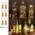 Led Cork Light Wine Bottle Starry Fairy Lights String Lights Battery Operated String Light with 15 Micro Led DIY for Bar Wine Bottle,Bedroom,Parties,Wedding Decor(6 Packs 75cm/2.5ft Warm White)