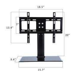 Universal TV Stand Table Top TVs Television Base Stand for 26-32 inch LCD LED TVl, Height Adjustment, Tempered Glass Base & Wire Management Fit Flat Screen Tv