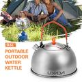 0.6L Stainless Steel Tea Kettle Portable Outdoor Camping Hiking Water Kettle Teapot Coffee Pot