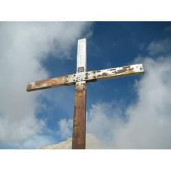 Summit Summit Cross Cross Mountain Mountains-20 Inch By 30 Inch Laminated Poster With Bright Colors And Vivid Imagery-Fits Perfectly In Many Attractive Frames
