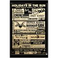 Holidays in the Sun Punk Rock Music Band Poster Gig Flyer Art Print for Framing