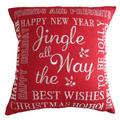 The Holiday Aisle Pulley Christmas Decorative Embroidered Burlap Pillow Cover