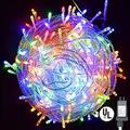 String Lights, Plug in 300 LED 100 ft/30M [UL Listed] [Weatherproof] [8 Modes] Decorative Lighting for Bedroom Patio Indoor Outdoor Home Kids Room Christmas Xmas Tree Holiday Party-Multicolor