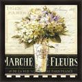 Marche de Fleurs (Flower Market) by Lisa Audit 27x27 Parisian French Floral Wall Art Print Framed D?cor Poster