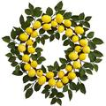 """Nearly Natural 24"""" Artificial Lemon Wreath"""