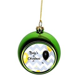 Baby 1st Christmas Ornament New Baby First Year Ornament Babys First Christmas Xmas Ornament - Baby 1st Xmas Ornament Christmas Décor Green Ball Ornaments