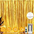 Bedroom Curtain Lights, Christmas 300 Led Window Curtain Lights, Led Fairy Light Curtains for Wedding Party Home Garden Bedroom Outdoor Indoor Wall Decorations Warm White 9.8x9.8 Ft