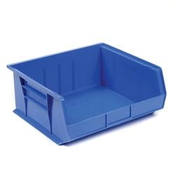 "AkroBin® Plastic Stacking Bin, 16-1/2""W x 14-3/4""D x 7""H, Blue, Lot of 6"
