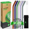 Reusable Glass Drinking Straws,Set of 6,Shatter Resistant,Non-Toxic & Hypoallergenic,Eco Friendly Straws For use with Cold & Hot Drinks,A Family Multi-Color 6 Pack That Can Replace All Plastic Straws
