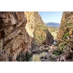 Tourism Hiking Excursion Caminito Del Rey Rocks-20 Inch By 30 Inch Laminated Poster With Bright Colors And Vivid Imagery-Fits Perfectly In Many Attractive Frames