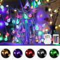 Color Changing Globe String Lights Battery Operated, 60 LEDs Crystal Bubble Ball Fairy Lights with Remote Control Timer for Christmas Party Decor