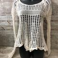 Free People Sweaters | Free People Crocheted Ivory Sweater Size Xs | Color: White | Size: Xs