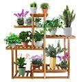 Baodan Wood Plant Stand, Indoor Outdoor Flower Stand, Multi Layer Flower Pots Shelf Plants Holder in Garden,Steady Corner Plant Stand for Indoor Home Living Room Yard