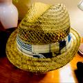 American Eagle Outfitters Accessories | American Eagle Outfitters Straw Fedora Hat | Color: Blue/Tan | Size: Os