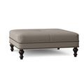 """Bradington-Young 42.5"""" Wide Square Geometric Cocktail OttomanOther Performance Fabrics in Gray/Black/Brown, Size 17.5 H x 42.5 W x 42.5 D in Wayfair"""