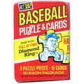 MLB 1982 Baseball Puzzle & Cards Trading Card Pack