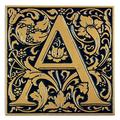 Whitehall Products Cloister Monogram Wall Decor Metal in Black/Yellow, Size 8.0 H x 8.0 W x 0.5 D in | Wayfair 3063-BG