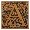 Whitehall Products Cloister Monogram Wall Decor Metal, Size 8.0 H x 8.0 W x 0.5 D in | Wayfair 3063-AC