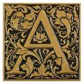 Whitehall Products Cloister Monogram Wall Decor Metal in Yellow, Size 8.0 H x 8.0 W x 0.5 D in | Wayfair 3063-OG