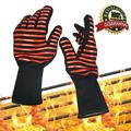 BBQ Gloves, Extreme Heat Resistant Grill Gloves Anti-Slip Aramid Fiber Grilling Gloves 923°F Oven Gloves Mitts for Outdoor Cooking Oven BBQ Grill - ABLEGRID