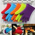 Kitchen Silicone Heat Resistant Gloves Oven Grill Pot Holder BBQ Cooking Mitt