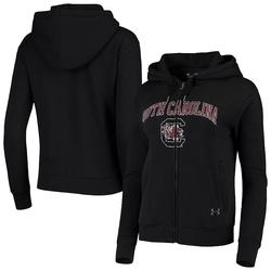 Women's Under Armour Black South Carolina Gamecocks All Day Fleece Full-Zip Hoodie, Size: Large