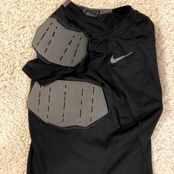 Nike Other   Nike Pro Boys Football Padded Shirt Youth Small   Color: Black/Gray   Size: Youth Small