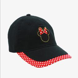 Disney Accessories   Minnie Mouse Disney Baseball Cap Hat   Color: Black/Red   Size: Os