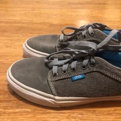 Vans Shoes   Gray Suede & Corduroy Vans Skate Shoes. Mens Sz 8   Color: Blue/Gray   Size: 8