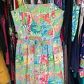 Lilly Pulitzer Dresses | Lilly Pulitzer Lottie Dress In Lilly State Of Mind | Color: Green/Pink | Size: 0