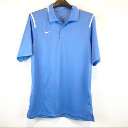 Nike Shirts | Nike Dri-Fit Golf Shirt Light Blue White Medium | Color: Blue/White | Size: M