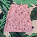 Brandy Melville Skirts | Nwt Brandy Melville Red Floral Clare Skirt | Color: Red/White | Size: Os